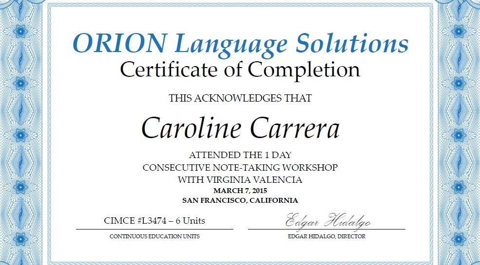 State certified tagalog interpeter caroline carrera spacer note taking yelopaper Images